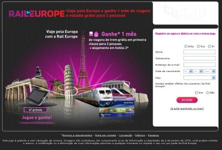 RailEurope | Ganhar Viagem