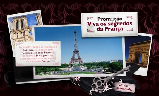 Boticário: Viagens a França